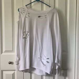 Aerie Crewneck Distressed Sweatshirt - Size M